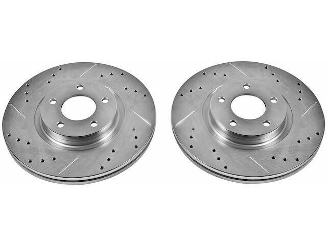 Fits: 2013 13 Mazda MazdaSpeed 3 TA042821 Max Brakes Front Performance Brake Kit Premium Cross Drilled Rotors + Metallic Pads
